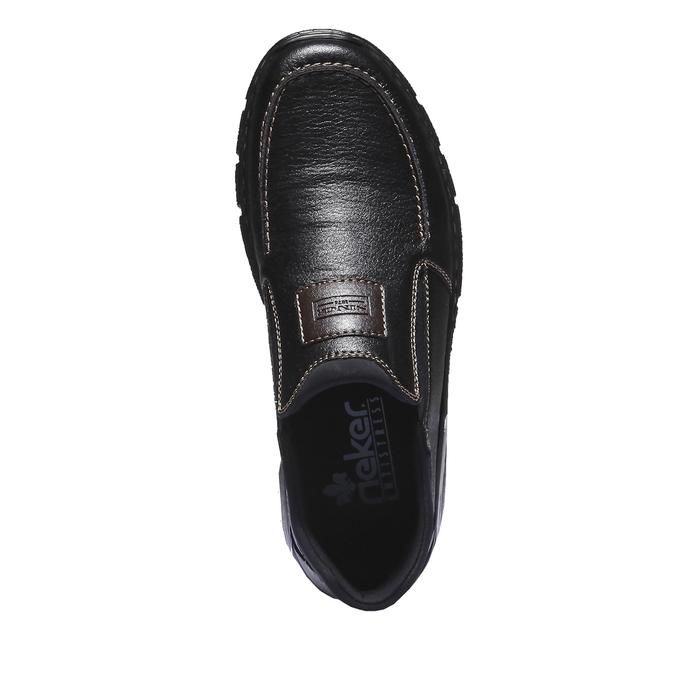 Chaussures à enfiler homme rieker, Noir, 814-6121 - 19