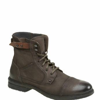 Bottine en cuir bata, Gris, 894-2165 - 13