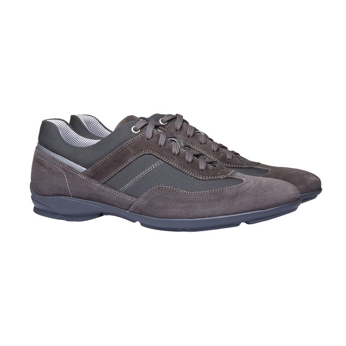 Tennis décontractée en cuir bata, Gris, 823-2987 - 26