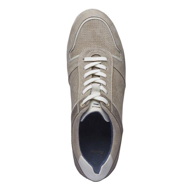 Tennis décontractée en cuir bata, Jaune, 843-8637 - 19