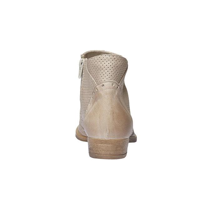 Bottine en cuir bata, Jaune, 594-8548 - 17