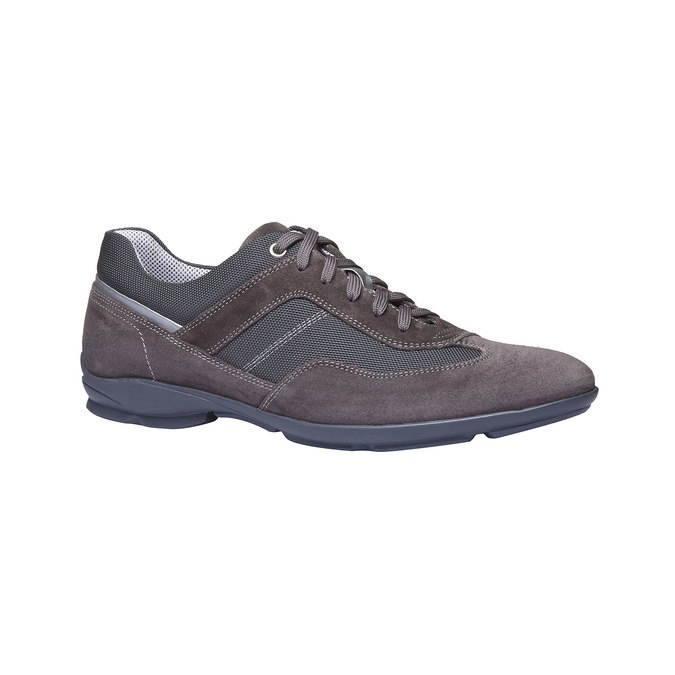 Tennis décontractée en cuir bata, Gris, 823-2987 - 13