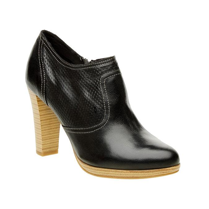 Chaussure en cuir à talon bata, Noir, 724-6932 - 13