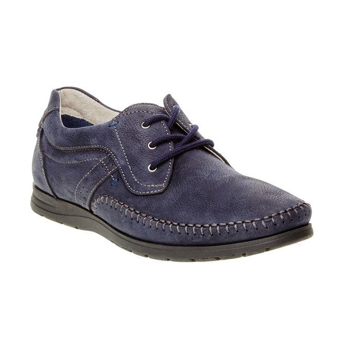 Chaussure lacée décontractée en cuir, Violet, 856-9183 - 13