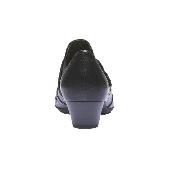 Bottine en cuir gabor, Noir, 614-6108 - 17