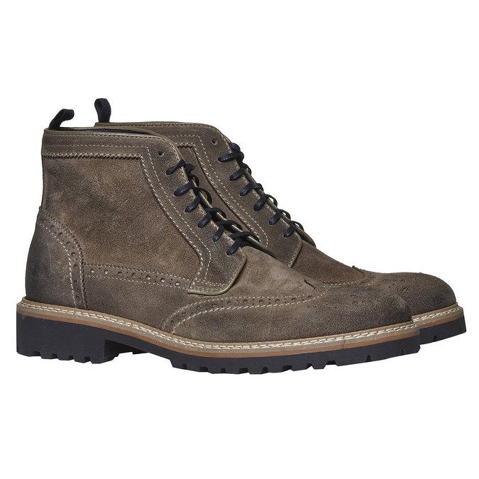 Boots en daim bata, Brun, 893-2372 - 26