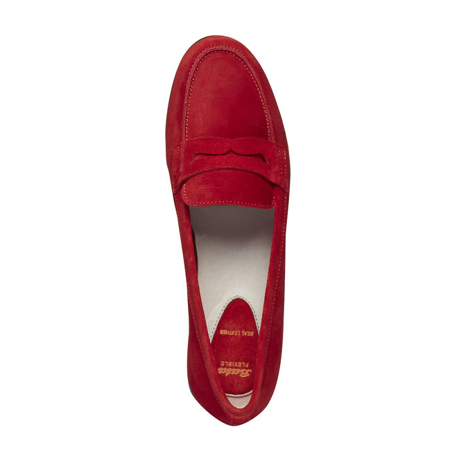 Penny Loafers en cuir flexible, Rouge, 513-5196 - 19