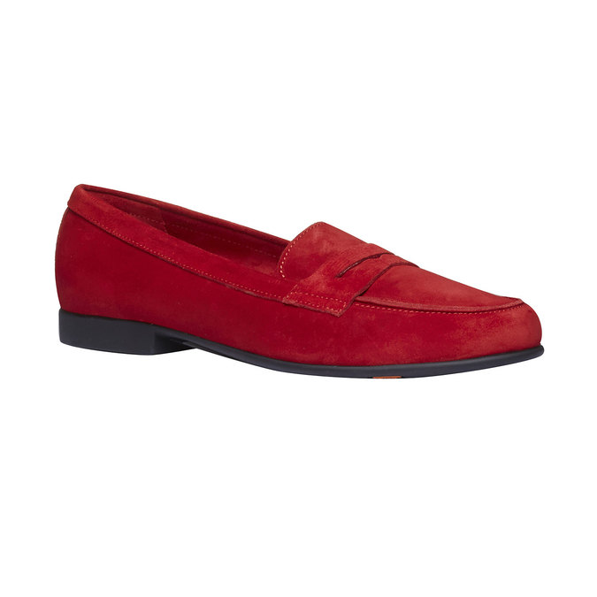 Penny Loafers en cuir flexible, Rouge, 513-5196 - 13