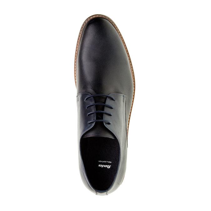 Chaussure lacée Derby en cuir pour homme bata, Bleu, 824-9551 - 19