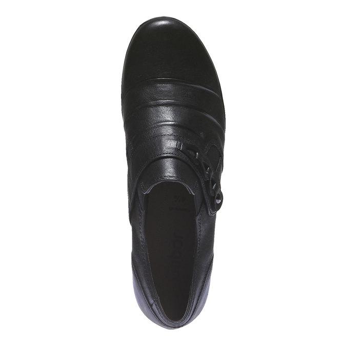 Bottine en cuir gabor, Noir, 614-6108 - 19