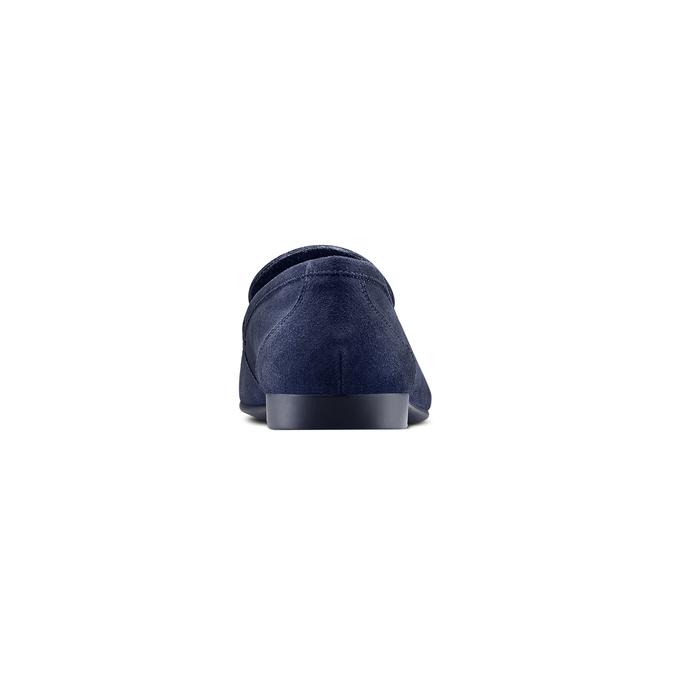 Mocassin en cuir homme flexible, Bleu, 853-9186 - 15