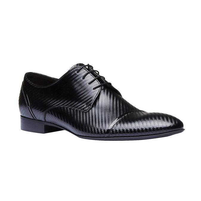 Chaussure lacée en cuir pour homme, Noir, 824-6702 - 13