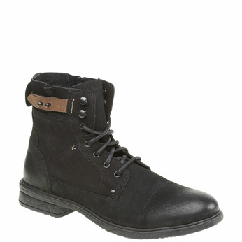 Bottine en cuir bata, Noir, 894-6165 - 13