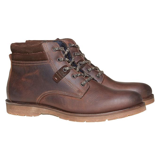 Chaussure en cuir pour homme bata, Brun, 894-4281 - 26