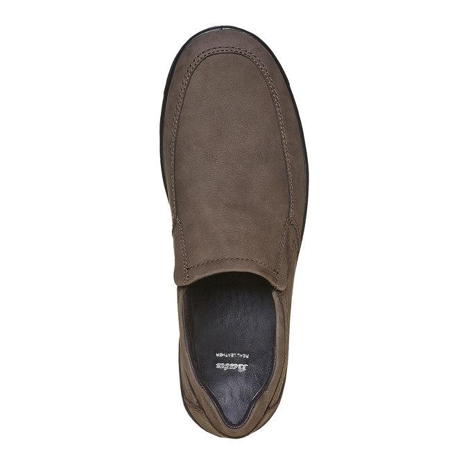 Chaussure en cuir homme bata, Gris, 836-2127 - 19