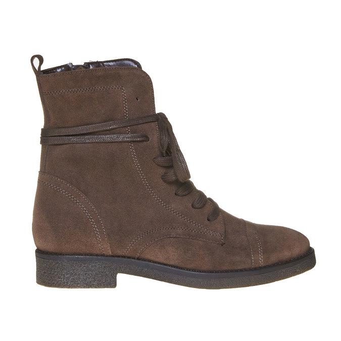 Chaussure en cuir pour femme bata, Brun, 593-4106 - 15