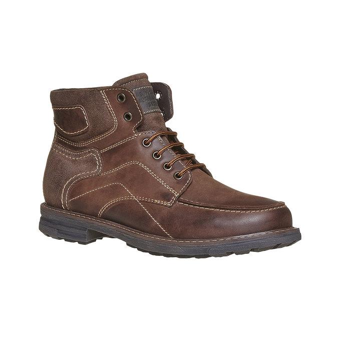 Chaussure montante en cuir pour homme bata, Brun, 896-4687 - 13