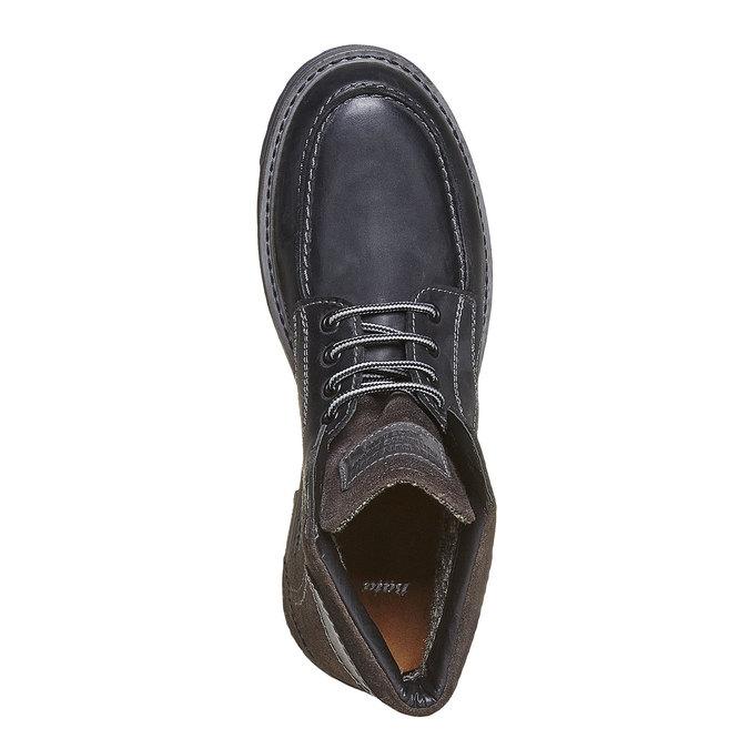 Chaussure montante en cuir pour homme bata, Noir, 896-6687 - 19
