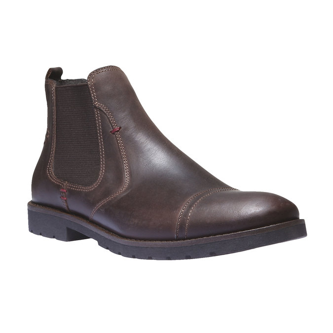 Bottines en cuir de style Chelsea bata, Brun, 894-4197 - 13