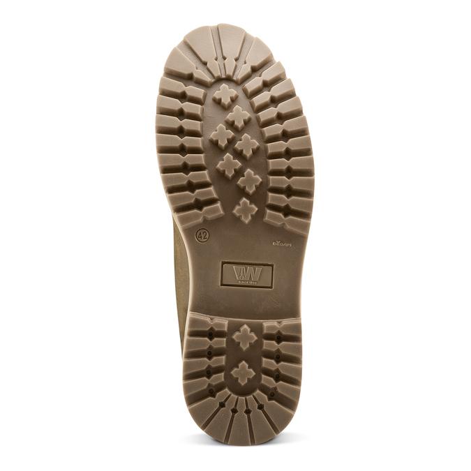 Chaussures en cuir à semelle tracteur weinbrenner, Brun, 894-4820 - 17