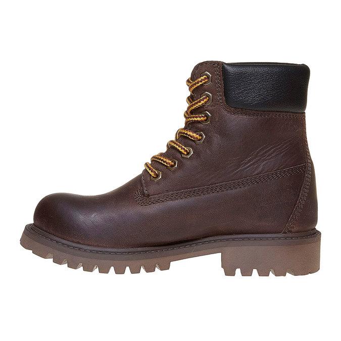 Chaussure en cuir pour enfant weinbrenner-junior, Brun, 394-4182 - 19