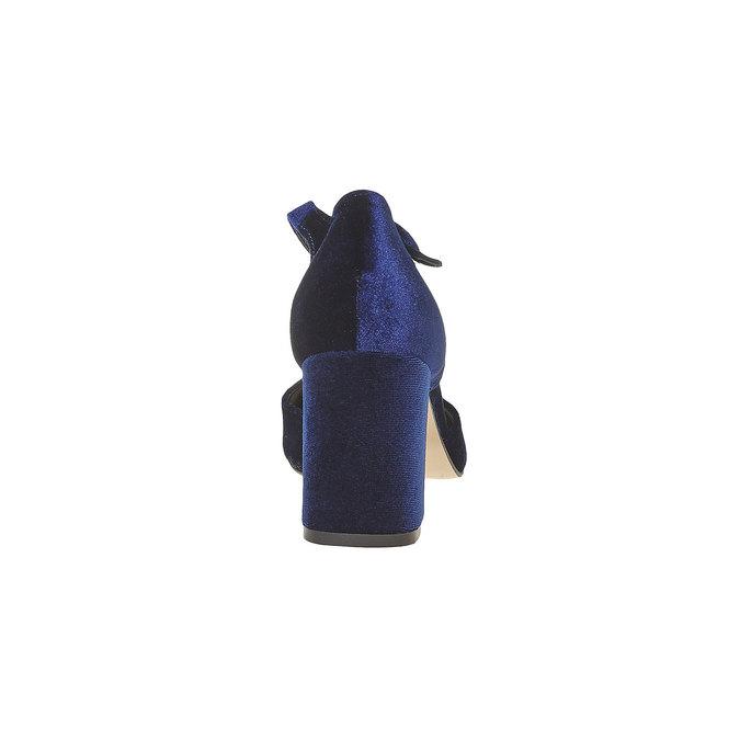 Escarpin femme ouvert sur les côtés bata, Bleu, 729-9177 - 17