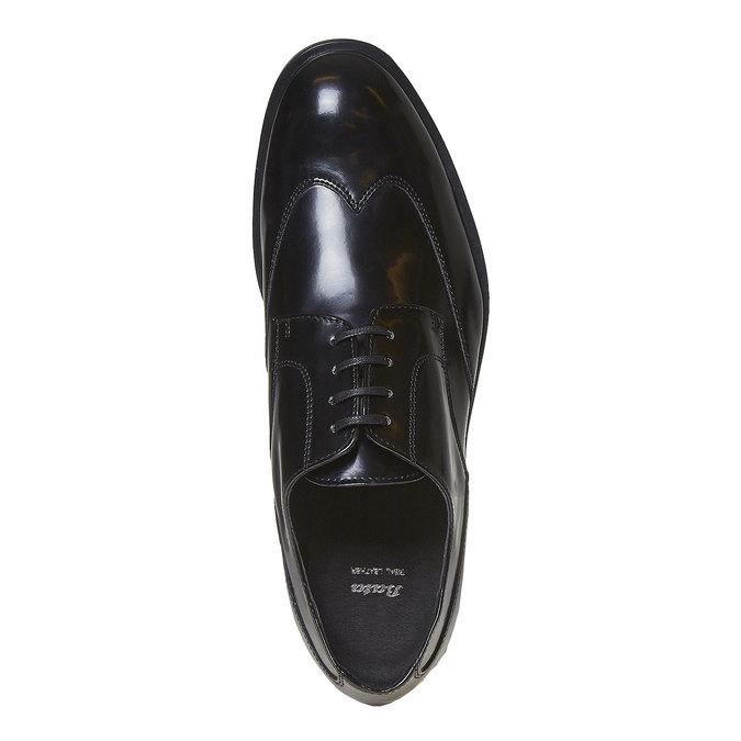 Chaussure lacée Derby homme bata, Noir, 821-6430 - 19