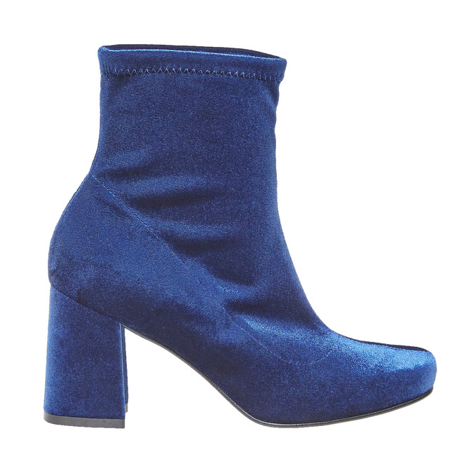 Bottine en velours bata, Bleu, 799-9643 - 15