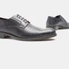 Chaussure lacée Derby en cuir bata, Violet, 824-9874 - 19