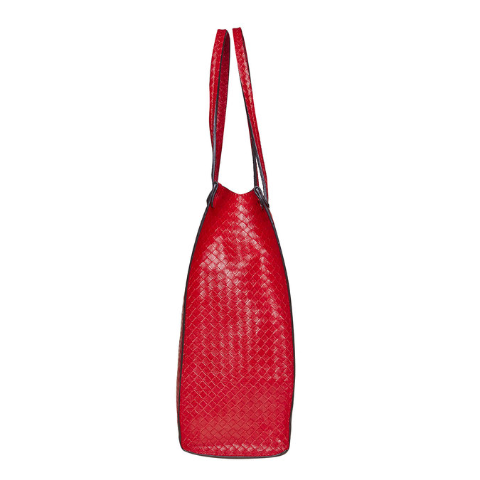 Sac à main rouge à motif tressé bata, Rouge, 961-5289 - 17