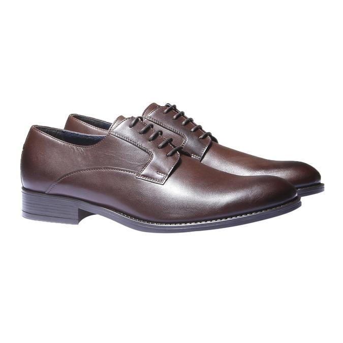 Chaussure lacée Derby en cuir bata, Brun, 824-4874 - 26