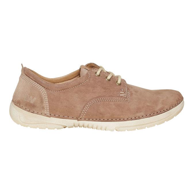 Chaussure lacée décontractée en cuir weinbrenner, Brun, 846-4657 - 15