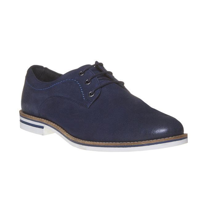 Chaussure lacée décontractée en cuir bata, Violet, 826-9642 - 13