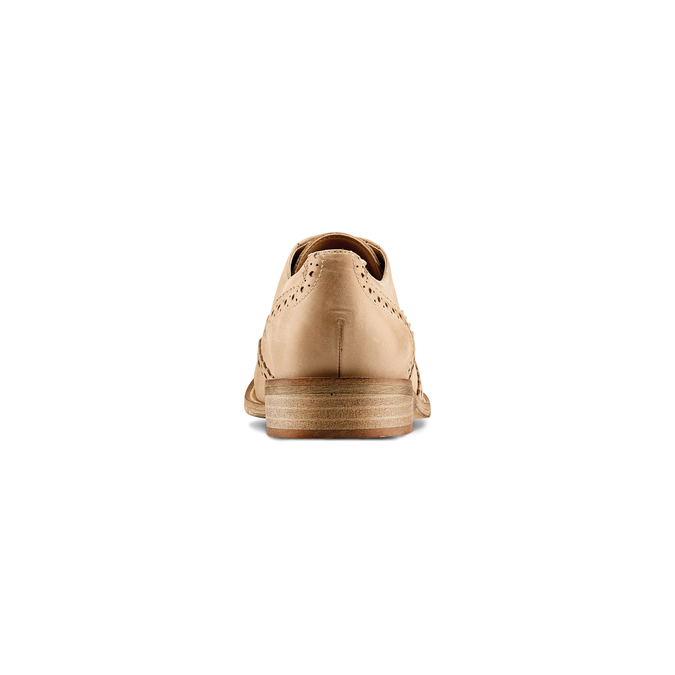 Chaussure lacée fantaisie en cuir pour femme bata, Jaune, 524-8482 - 15