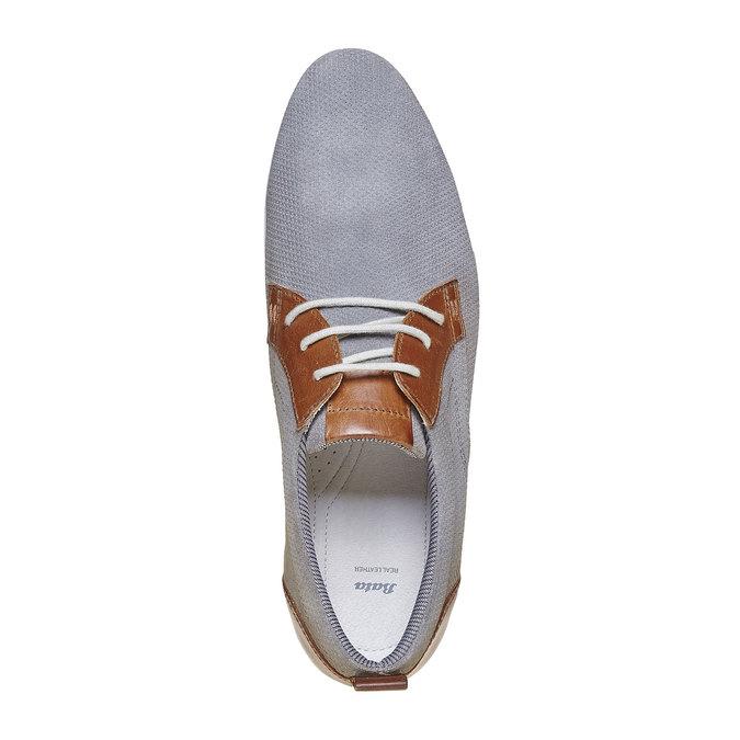 Chaussure décontractée en cuir bata, Gris, 823-2234 - 19