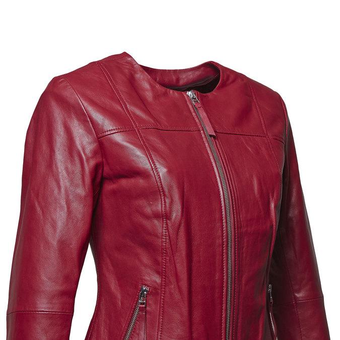 Blouson élégant en cuir bata, Rouge, 974-5312 - 16