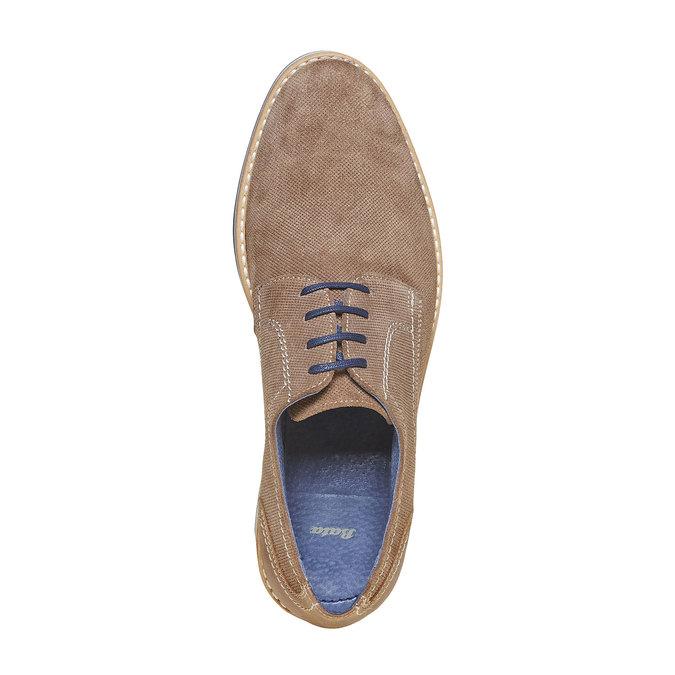 Chaussure lacée en cuir à semelle épaisse bata, Gris, 823-2258 - 19