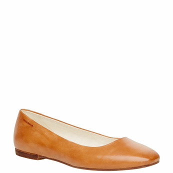 Ballerine en cuir pour femme vagabond, Brun, 514-3101 - 13
