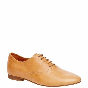 Chaussure lacée en cuir pour femme vagabond, Brun, 524-3013 - 13