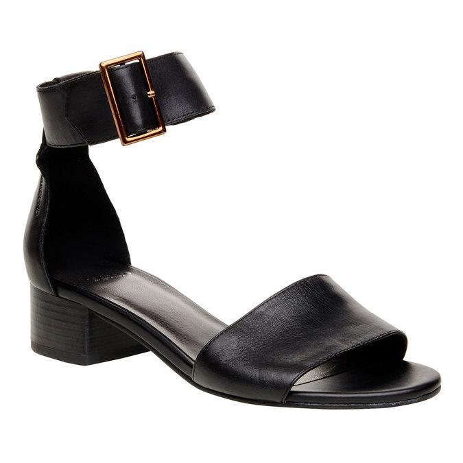 Sandale en cuir avec bride de cheville vagabond, Noir, 664-6013 - 13