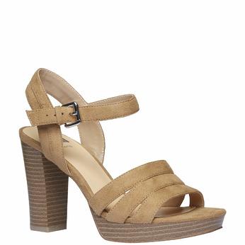 Sandale femme à talon massif bata, Jaune, 769-8484 - 13