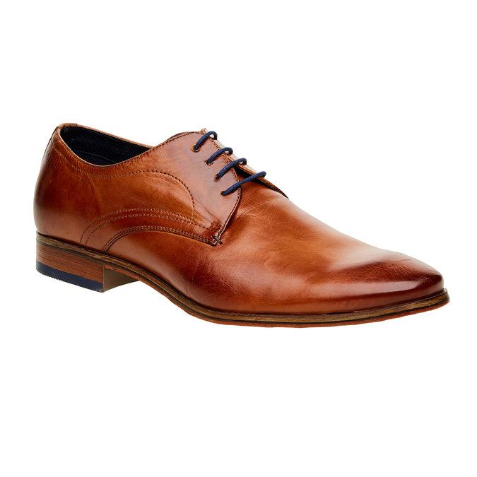 Chaussure lacée Derby en cuir bugatti, Brun, 824-4303 - 13