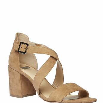 Sandale femme bata, Jaune, 769-8317 - 13