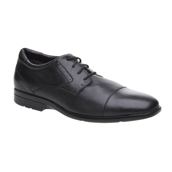 Chaussure lacée en cuir pour homme rockport, Noir, 824-6376 - 13