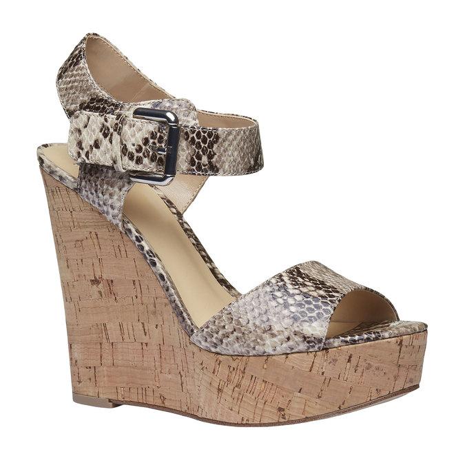 Sandale à plateforme pour femme bata, Jaune, 761-8533 - 13