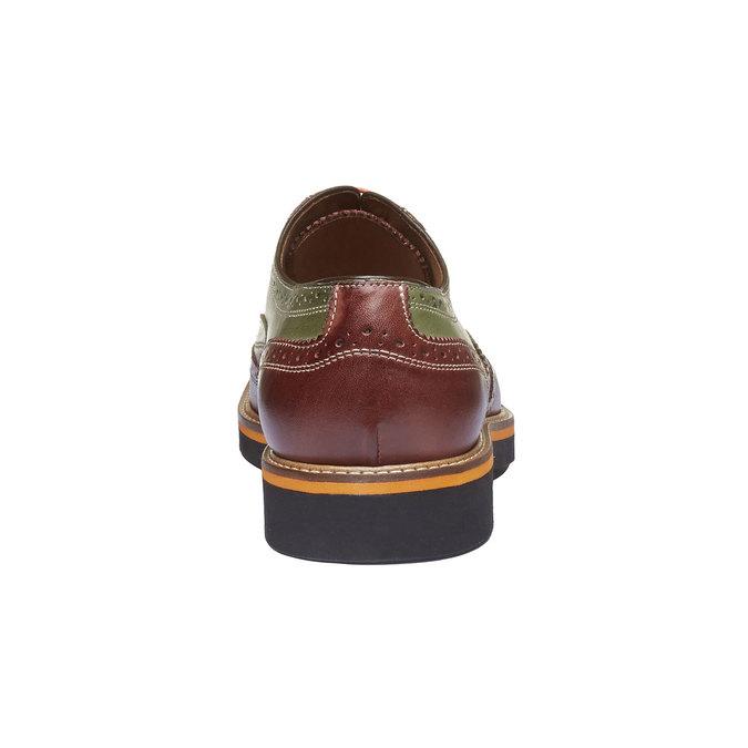 Chaussure lacée colorée en cuir shoemaker, Rouge, 824-5776 - 17