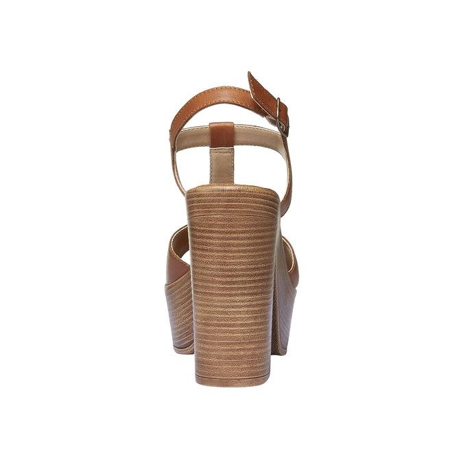 Sandale femme à talon massif bata, Brun, 764-4509 - 17