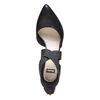 Escarpin en cuir noir avec lanières sur l'empeigne bata, Noir, 724-6369 - 19