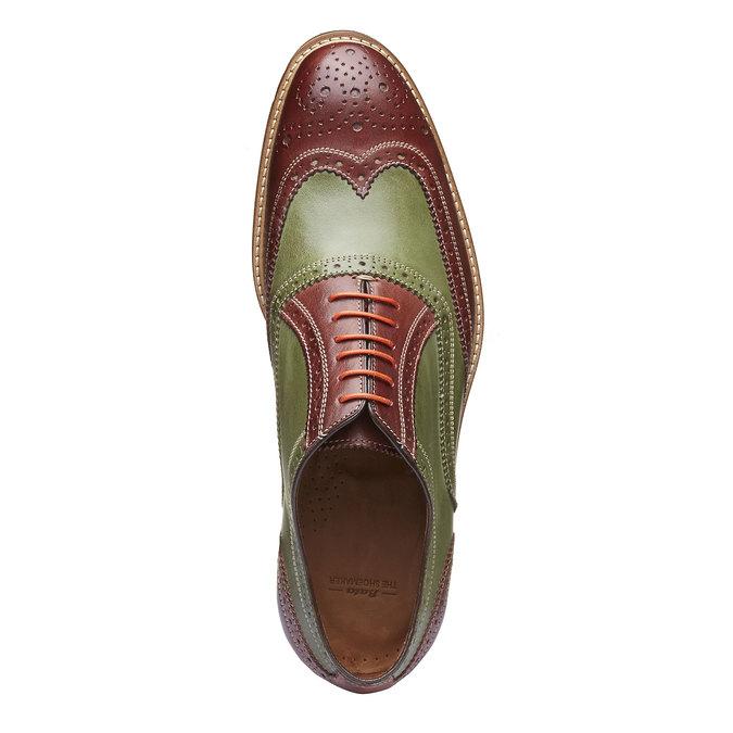 Chaussure lacée colorée en cuir shoemaker, Rouge, 824-5776 - 19