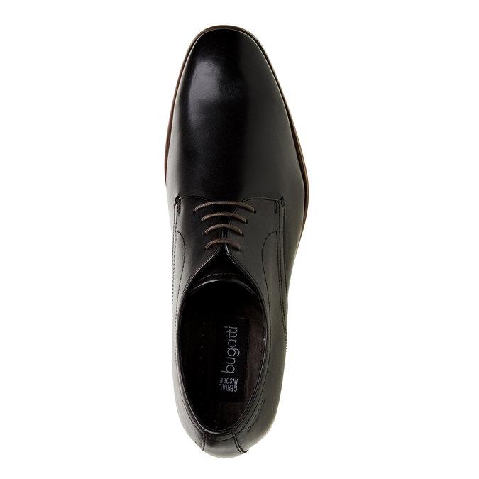 Chaussure lacée Derby en cuir bugatti, Noir, 824-6303 - 19